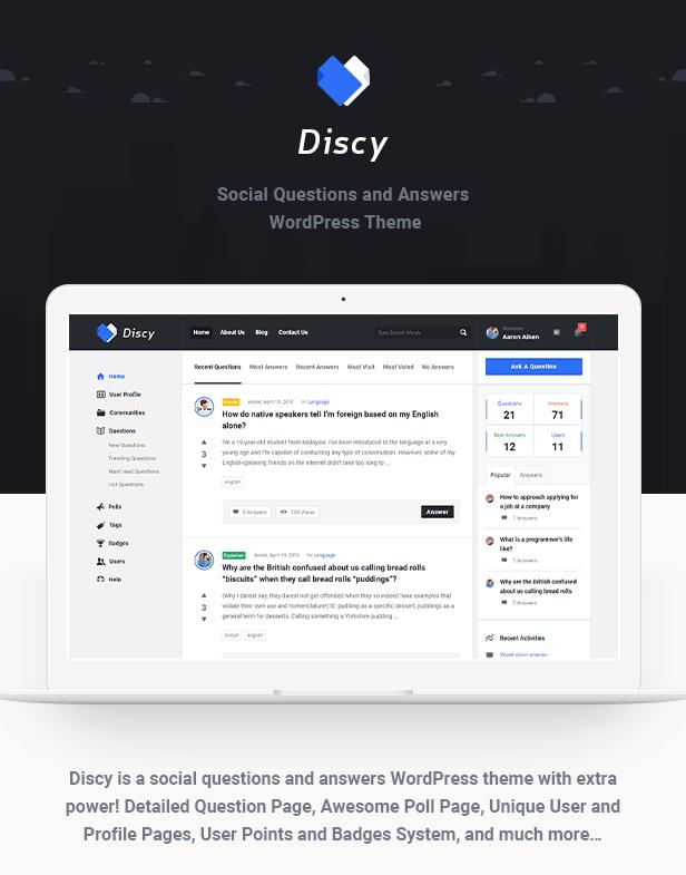 Discy v3.2 社交问答 WordPress 主题