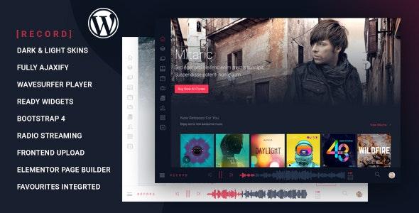 Rekord - Ajaxify音乐/活动/播客多用途WordPress主题