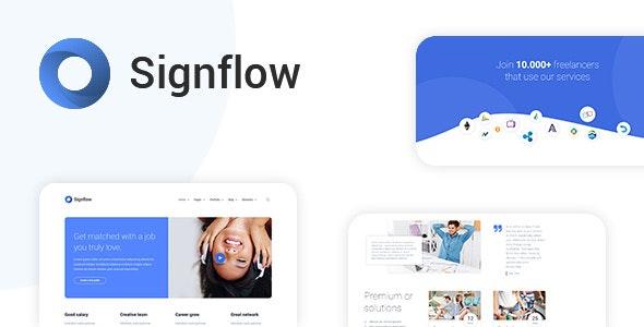 Signflow 现代科技初创公司WordPress主题
