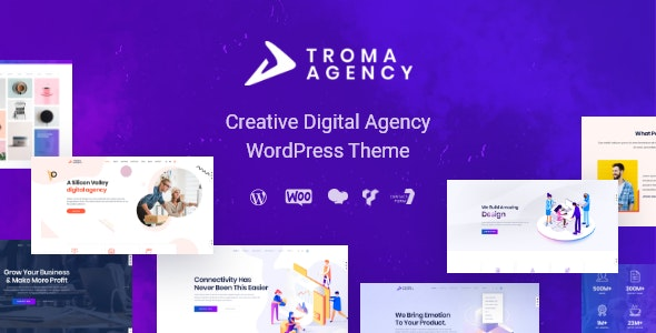 Troma 创意数字机构WordPress主题