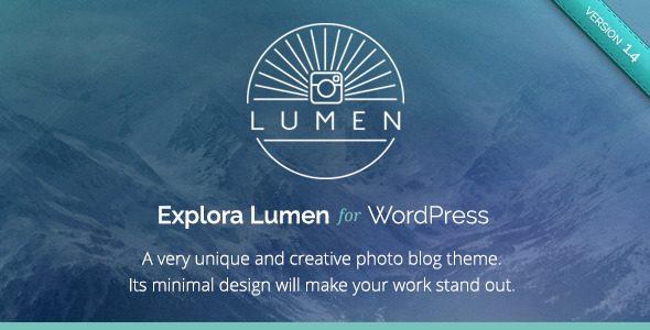 LUMEN 创意摄影画廊个人网站主题