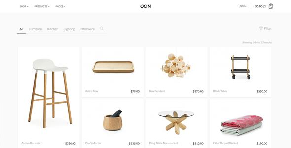 Ocin简洁WordPress主题模板