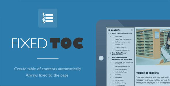 Fixed TOC导航目录WordPress插件汉化版