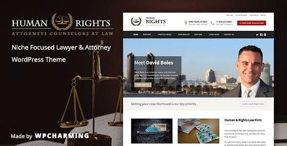 HumanRights - 律师事务所WordPress主题汉化版