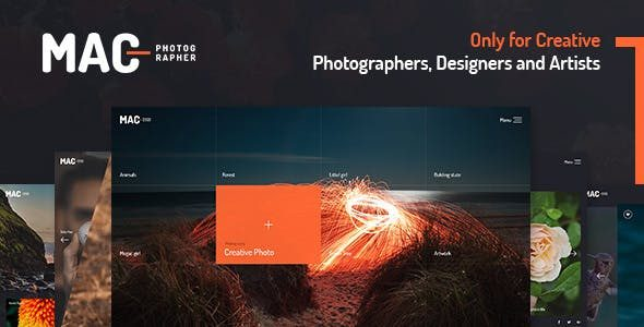 Mac - 全屏摄影艺术WordPress汉化主题