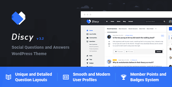Discy v3.2 - 社交问答WordPress主题