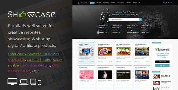 Showcase响应式WordPress网格/瀑布流布局博客主题