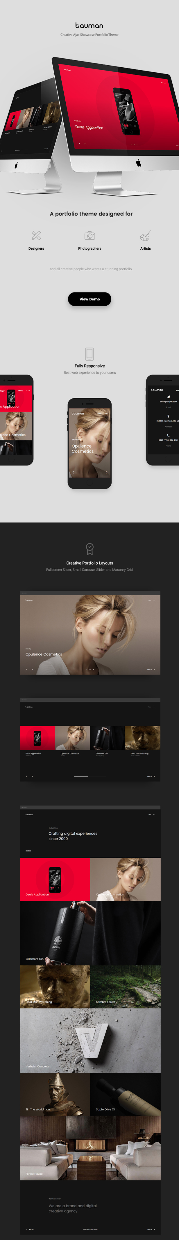 Bauman - 高端产品展示摄影网站 WordPress 模板