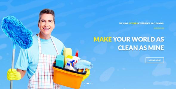 保洁家政服务网站DedeCMS模板