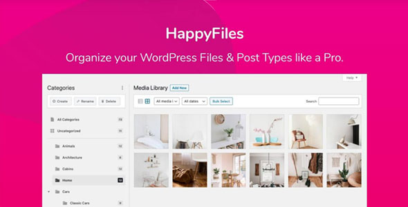 Happy Files Pro - WordPress媒体管理插件