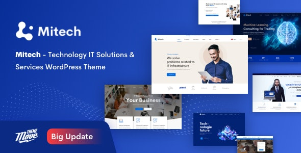 Mitech - IT信息技术服务解决方案WordPress主题