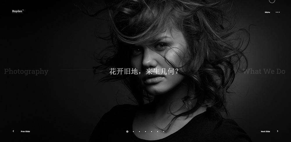 高端炫酷摄影作品展示网站DedeCMS整站模板